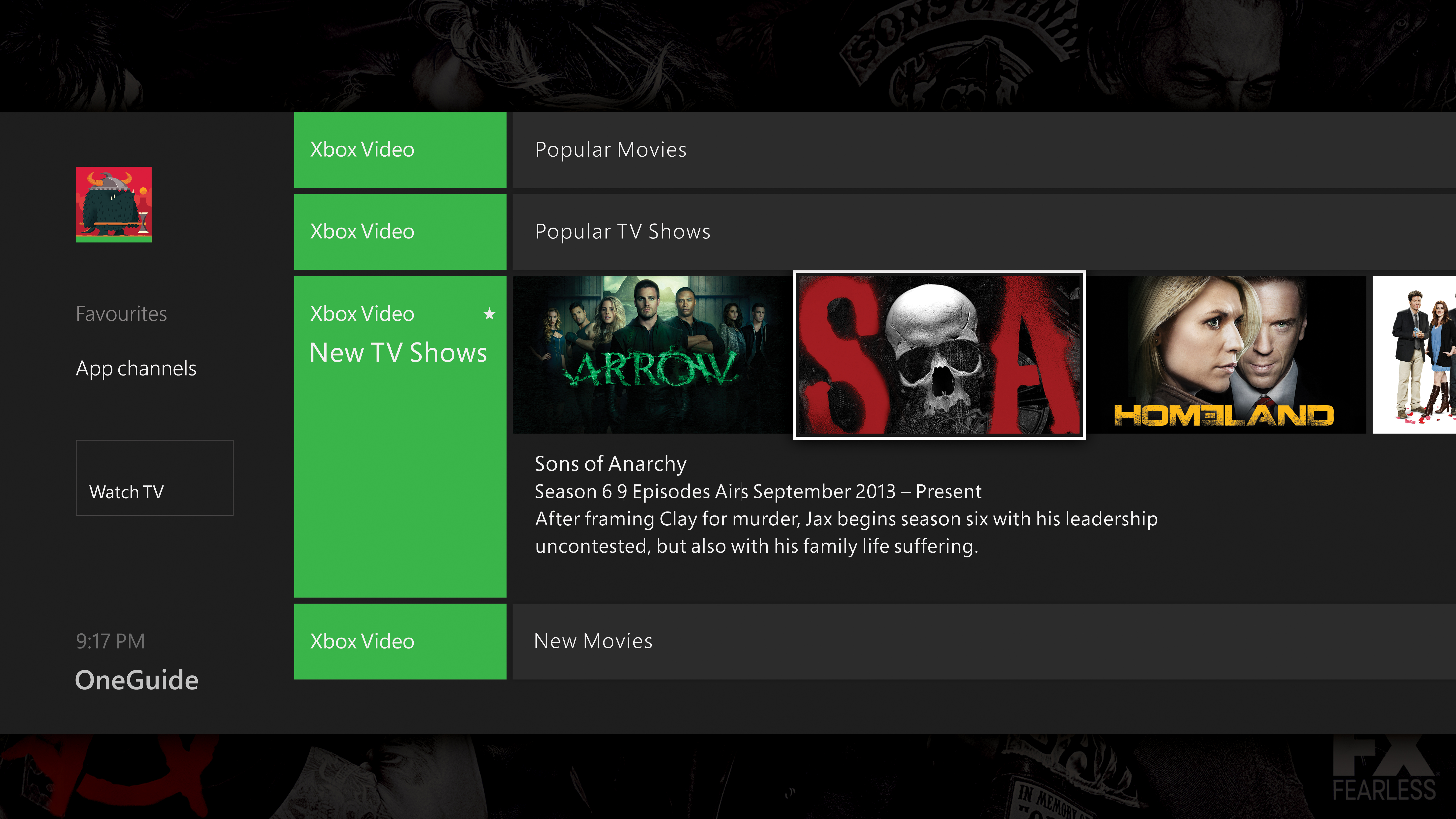 How do you watch now tv on xbox one