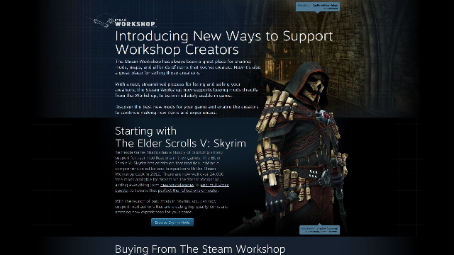 Steam Introduces Paid Workshop Mods For Skyrim