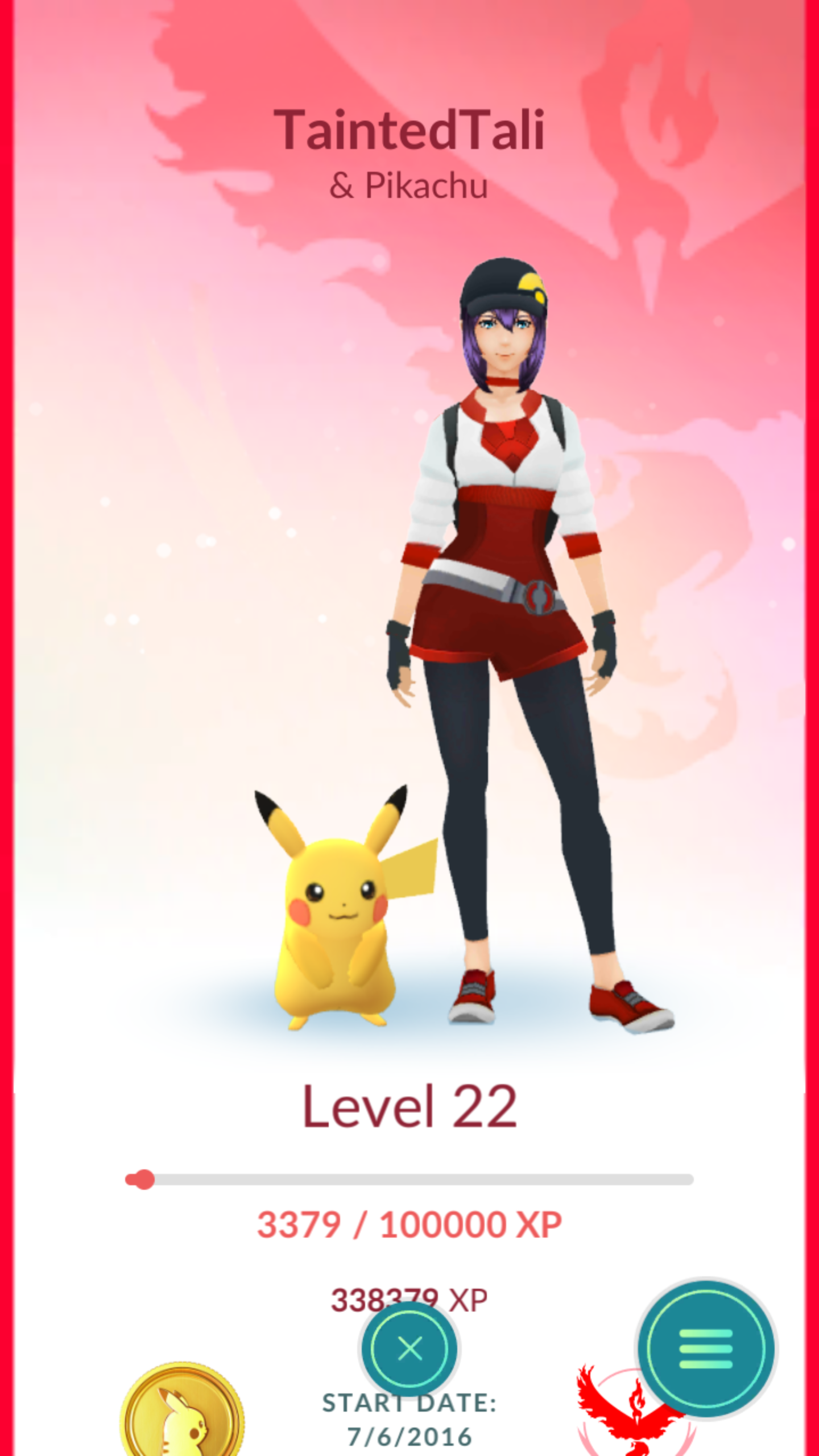 Pikachu with trainer