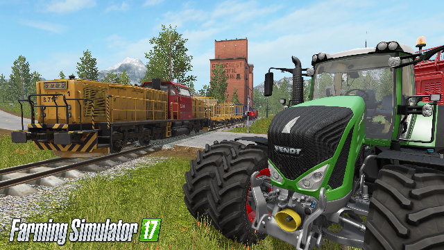 You can drive TRAINS in Farming Simulator 17