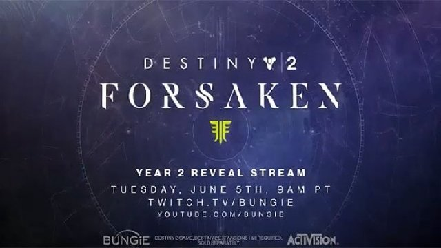 Destiny 2: Forsaken Expansion Revealed